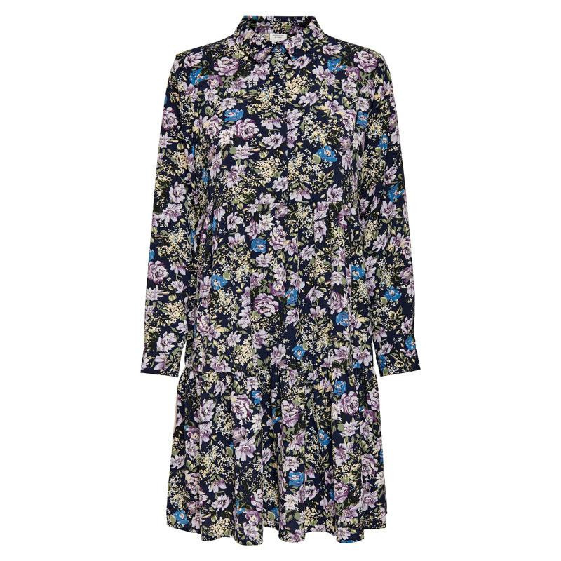 Image of Black Iris PURPLE & PARISIAN BLUE FLOWERS JDYPIPER SHIRT DRESS NOOS 15221987 fra JDY (114901-Q011)