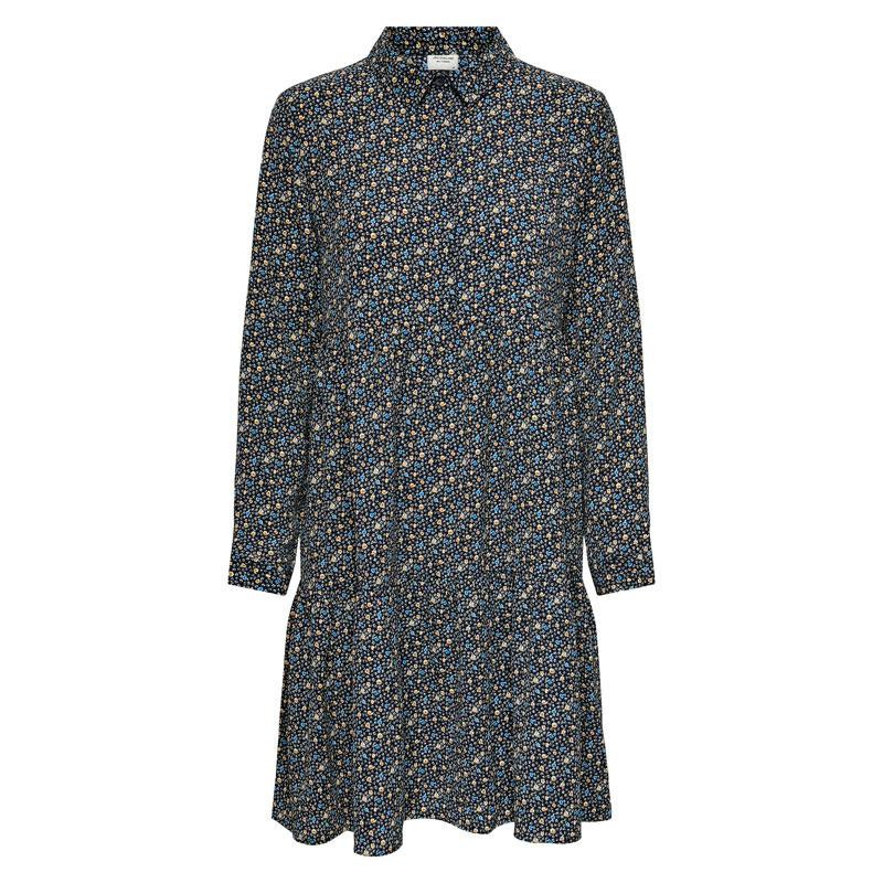 Image of Black SPECTRA YELLOW & AQUARIUS DITSY JDYPIPER SHIRT DRESS NOOS 15221987 fra JDY (114901-Q020)