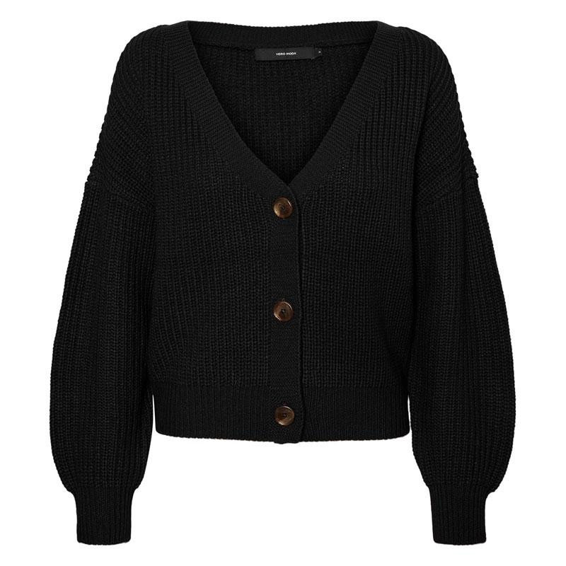 Image of Black VMLEA V-NECK CARDIGAN 10243769 fra Vero Moda (144501-B013)