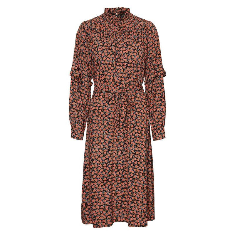 Image of Black SPICED CORAL VMMILDA CALF DRESS 10241216 fra Vero Moda (144901-414)