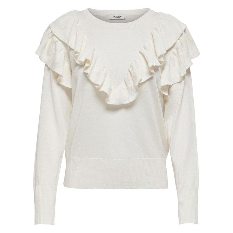 Image of Cloud Dancer JDYANRY FRILL PULLOVER 15225641 fra JDY (110211-Q010)