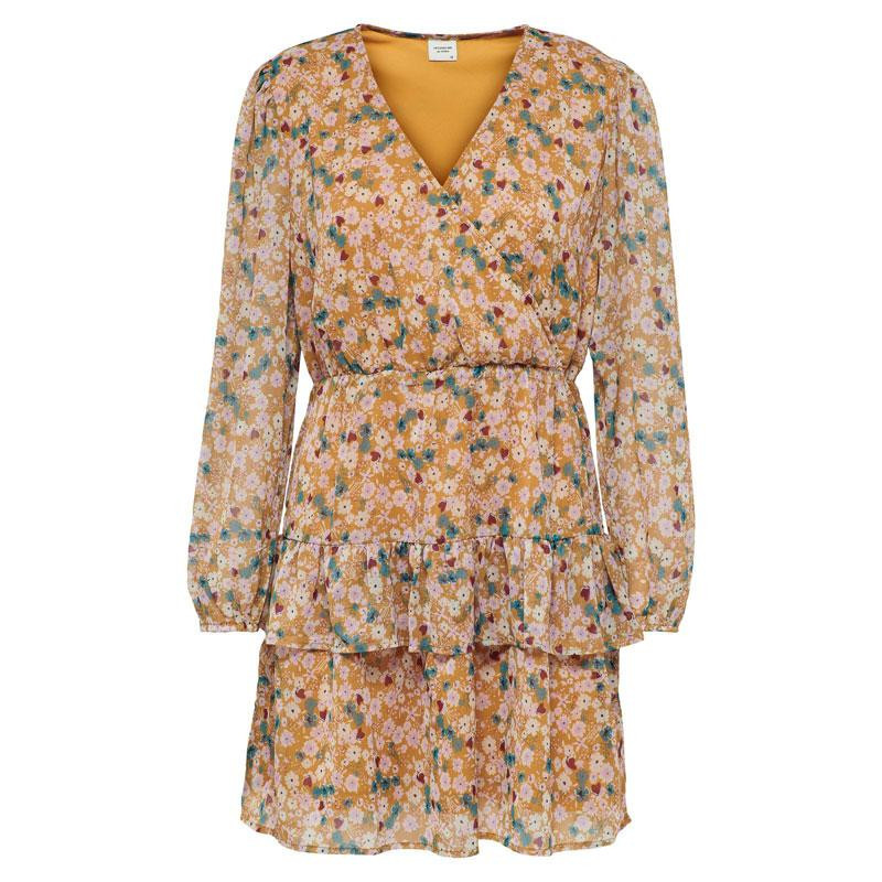 Image of Cathay Spice SOFT MULTICOLOR FLOWERS JDYPENELOPE DRESS 15220778 fra JDY (110311-V010)
