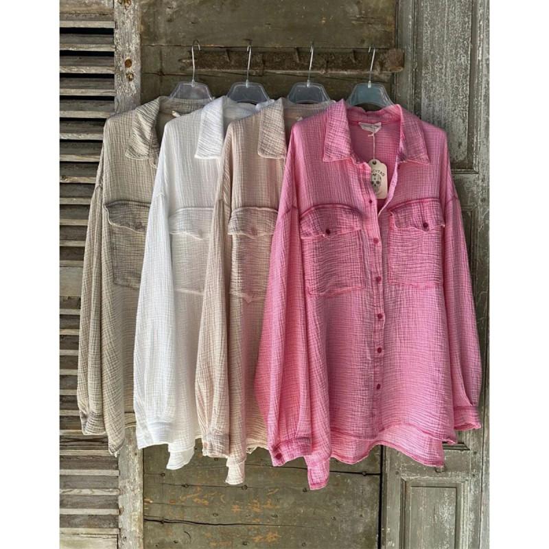 Image of Pink ELICRISO Blouse fra Cabana Living (100711-771)