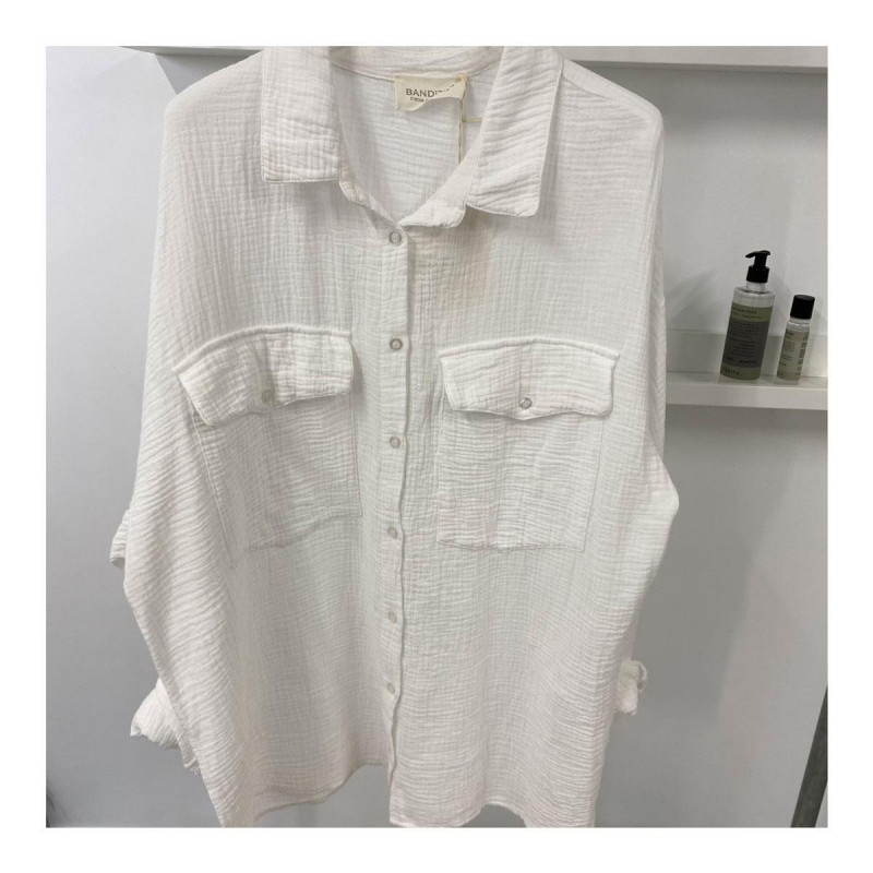 Image of White ELICRISO Blouse fra Cabana Living (100711-752)