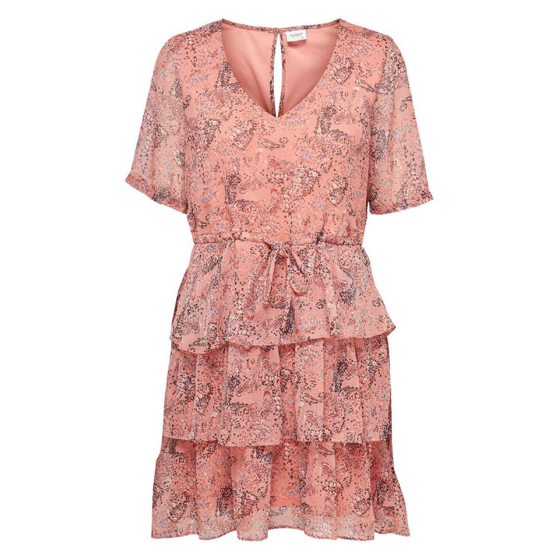 Image of Coral Haze MINI FLOWERS & LEAVES JDYLINDA DRESS 15225197 fra JDY (110911-P031)