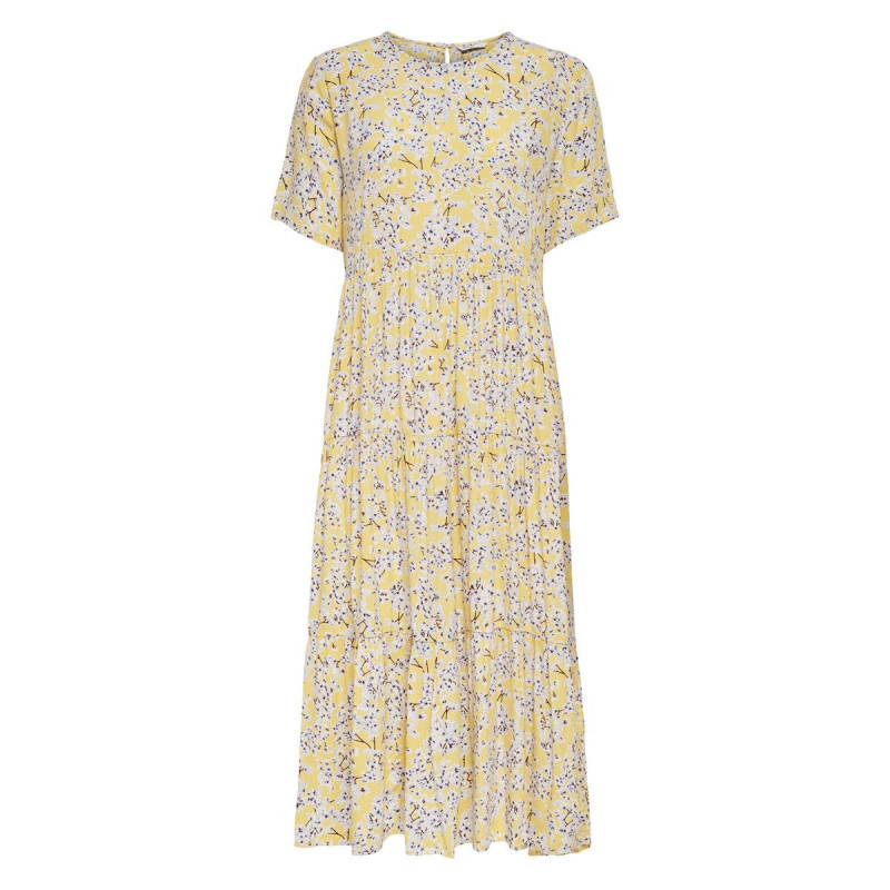Image of Mellow Yellow YELLOW FLOWER ONLAMALIE LIFE MIDI DRESS 15229824 fra Only (071211-Y007)