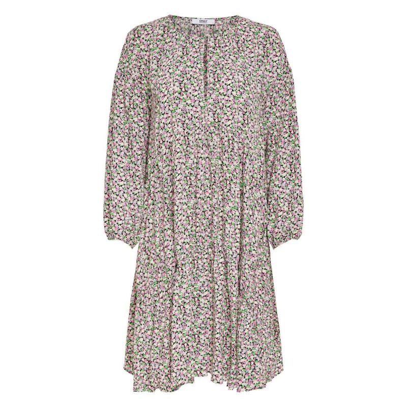 Image of Black PASTEL DITSY ONLAYA SHORT DRESS 15232675 fra Only (071311-625)