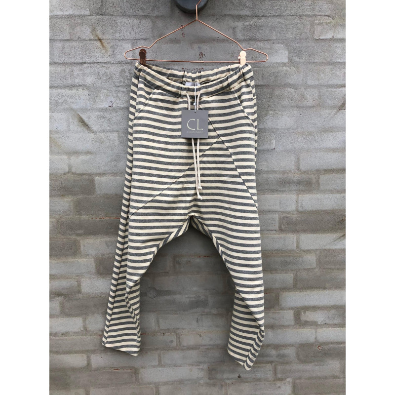 Image of Grey stripe Baggy pants 51280/51472 fra cabana Living (101311-Z015)