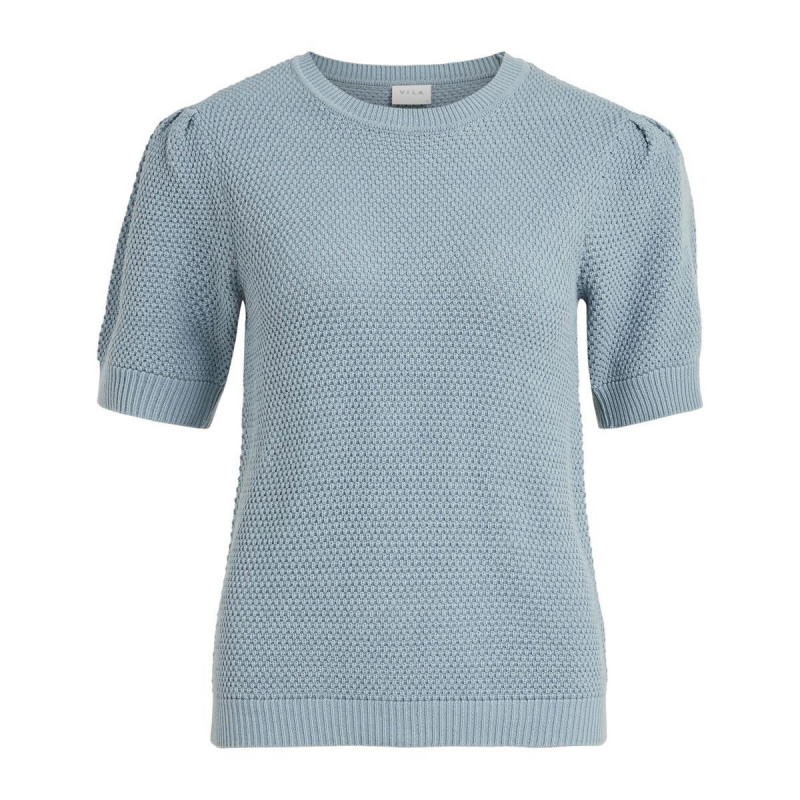 Image of Ashley Blue VICHASSA PUFF KNIT TOP NOOS fra Vila (191411-Q032)