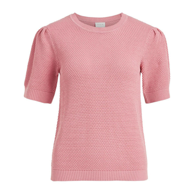 Image of Wild Rose VICHASSA PUFF KNIT TOP NOOS fra Vila (191411-S007)