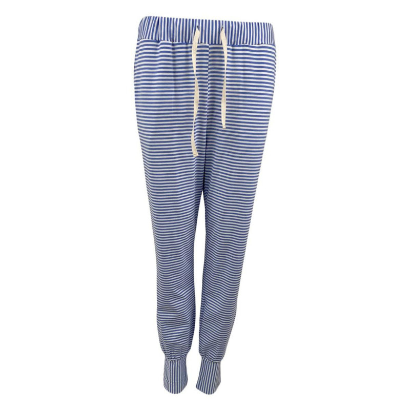 Image of Blue POLLY Striped Jersey Pants 40051 fra Black Colour (161511-289)