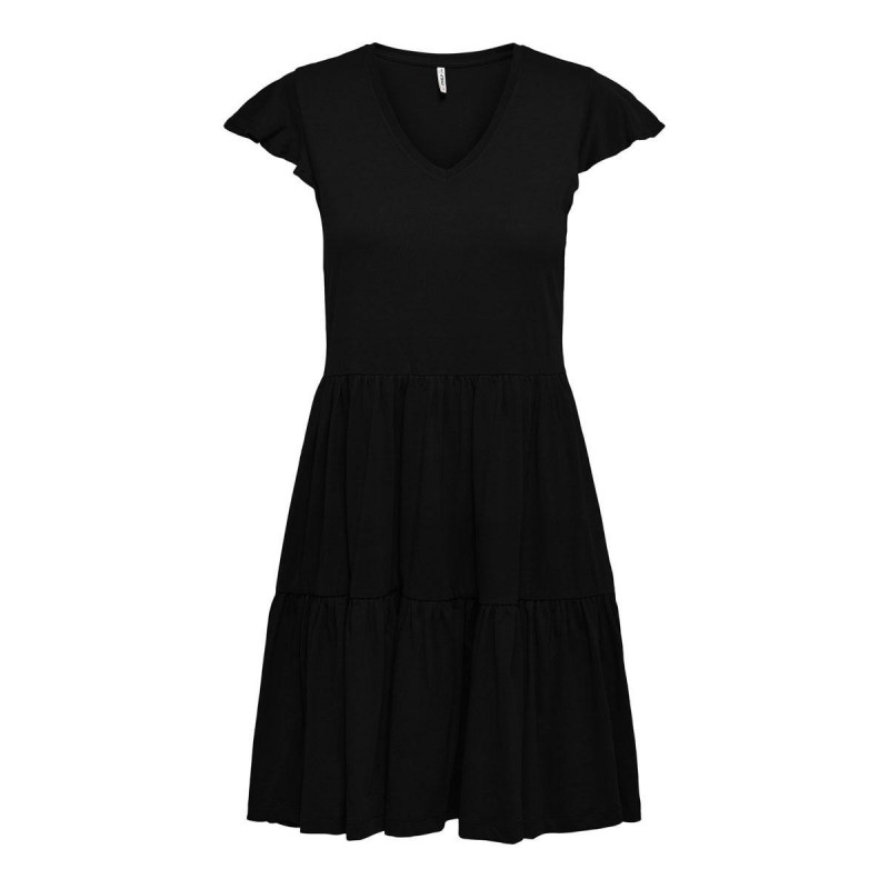 Image of Black ONLMAY CAP SLEEVES FRILL DRESS NOOS 15226992 fra Only (071711-P014)
