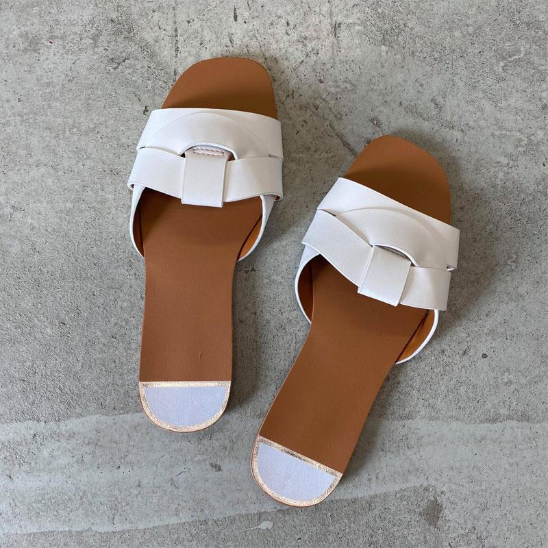 Image of White Sofia sandal SM127 (323011-X021)