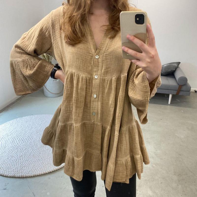 Image of Camel Julie Dress (323211-468)